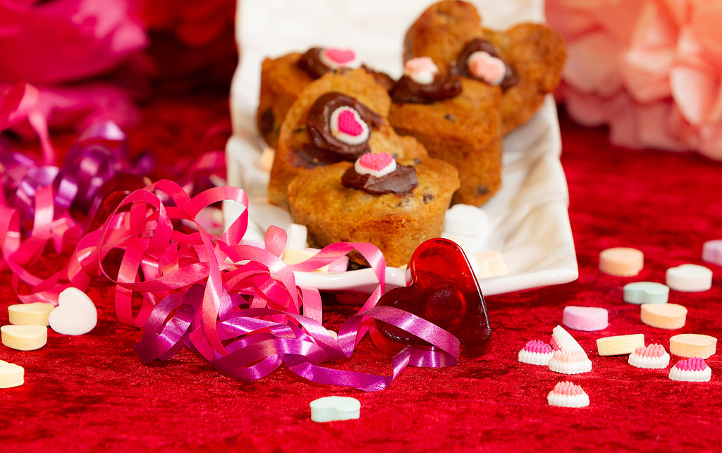 Chocolate Bundt Cakes and Heart Shaped Chocolate Chip Cookies: gluten free or classic
