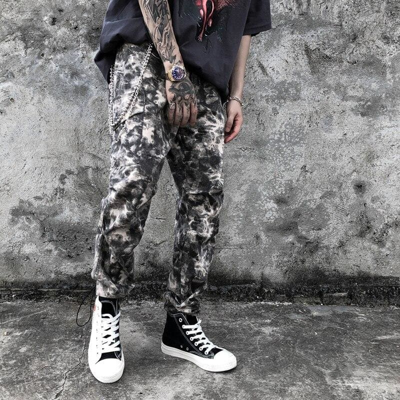'Camouflage' Patchwork Streetwear Jogger Pants