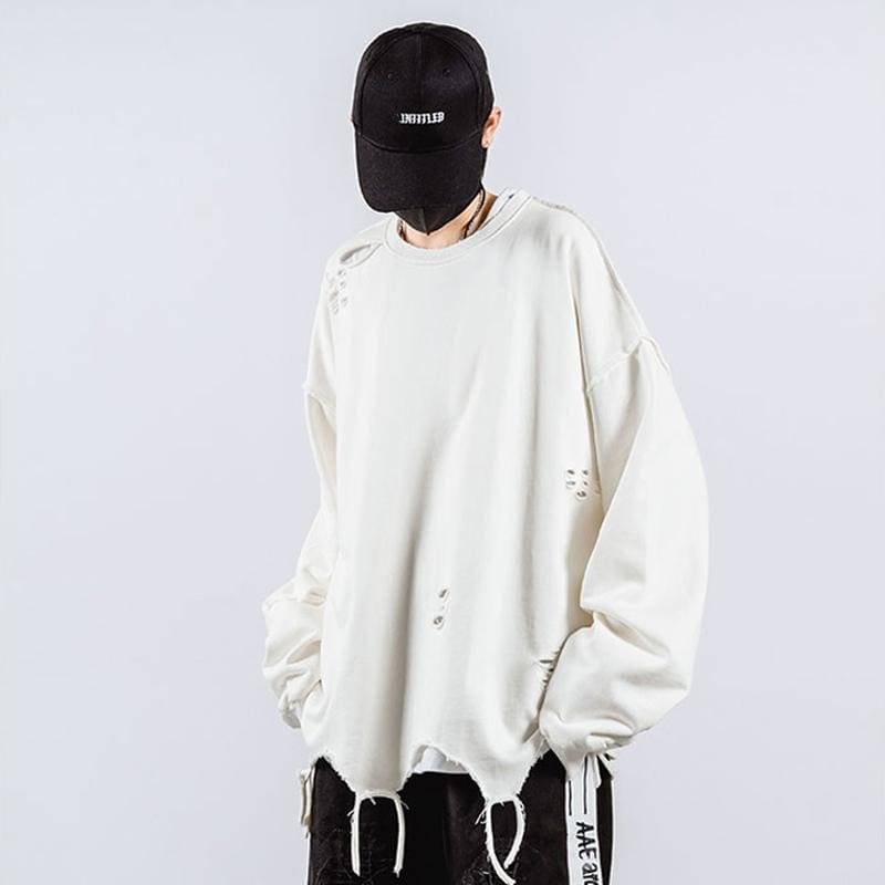 'Ripped' Oversized Streetwear Sweatshirt