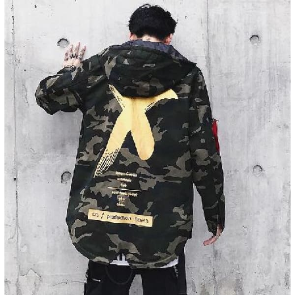 'X Camoflage' Jacket [Yellow]