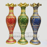 Allah (SWT) Metal Vases Red, Green & Blue