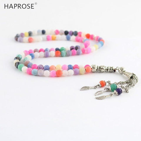 100% Natural Agate Multi-Color Tasbih