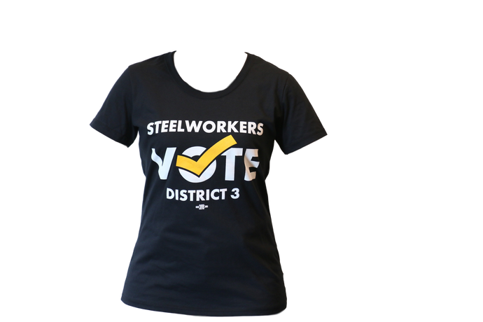 Women's 'Steelworkers Vote District 3' T-Shirt
