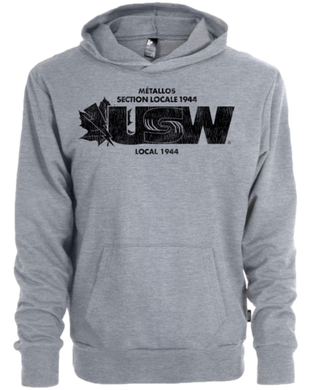 Unisex Heather Grey Fleece Hoodie