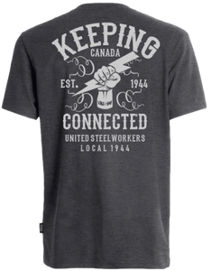 Keeping Canada Connected Grey Tshirt