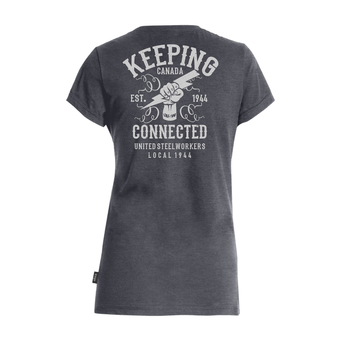 Women's Keeping Canada Connected Grey T-shirt