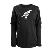 "Women's Black Long Sleeves Fist ""Force, Solidarité, Respect"""