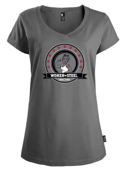 "Tee-shirt pour femme ""Women of Steel, Section locale 1944"""