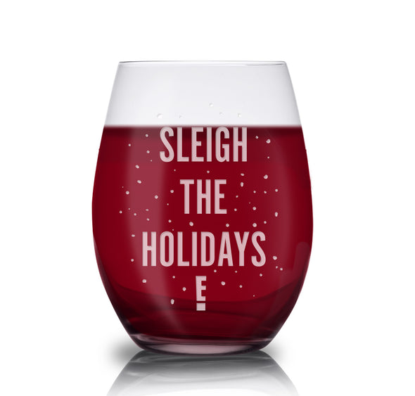 Sleigh the Holidays Stemless Wine Glass