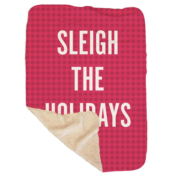 Sleigh the Holidays Red Sherpa Blanket