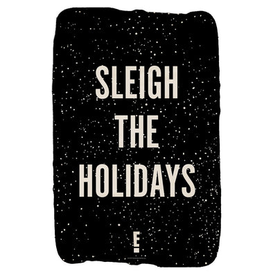 Sleigh the Holidays Black Sherpa Blanket