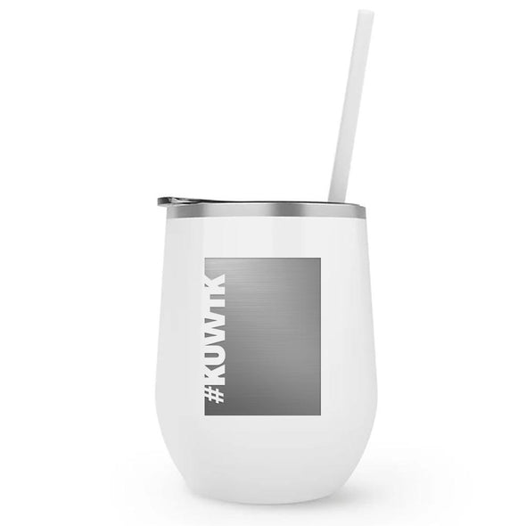 Keeping Up with the Kardashians Block Hashtag Wine Tumbler
