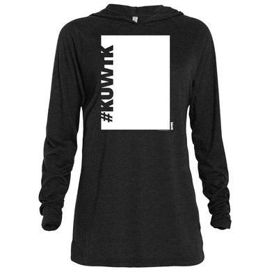 Keeping Up with the Kardashians Block Hashtag Adult Tri-Blend Raglan Hoodie