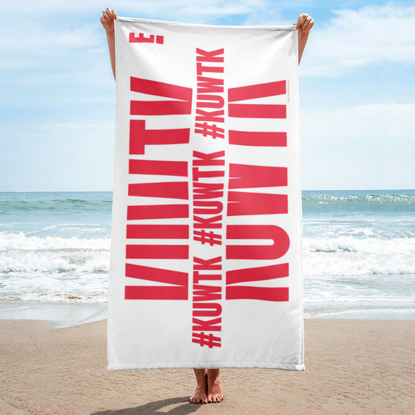 Keeping Up with the Kardashians Hashtag Beach Towel