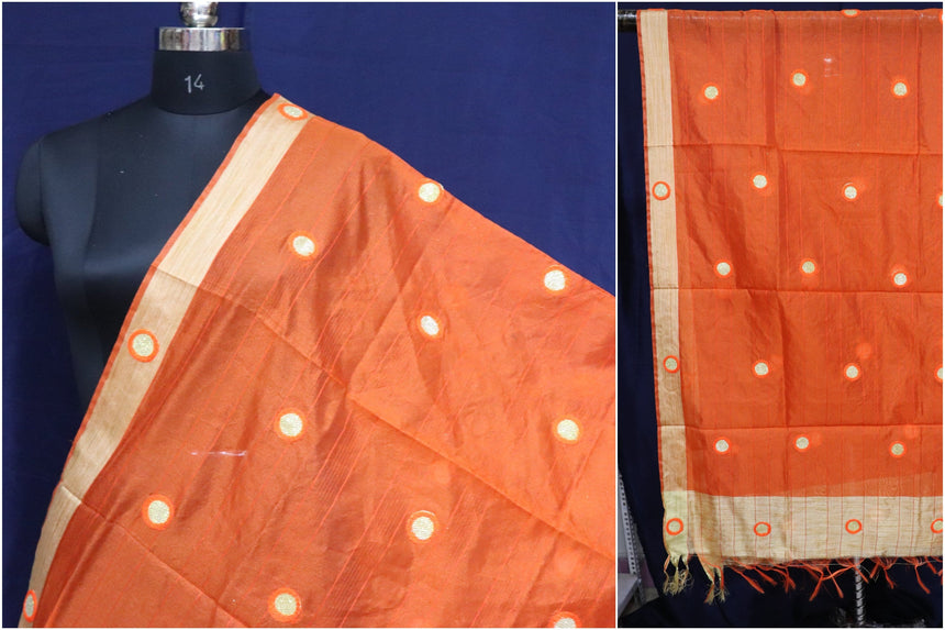 Chanderi Silk Embroidered Dupatta