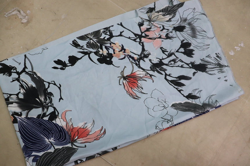 Printed Crepe Fabric (0.50 meter cut piece)