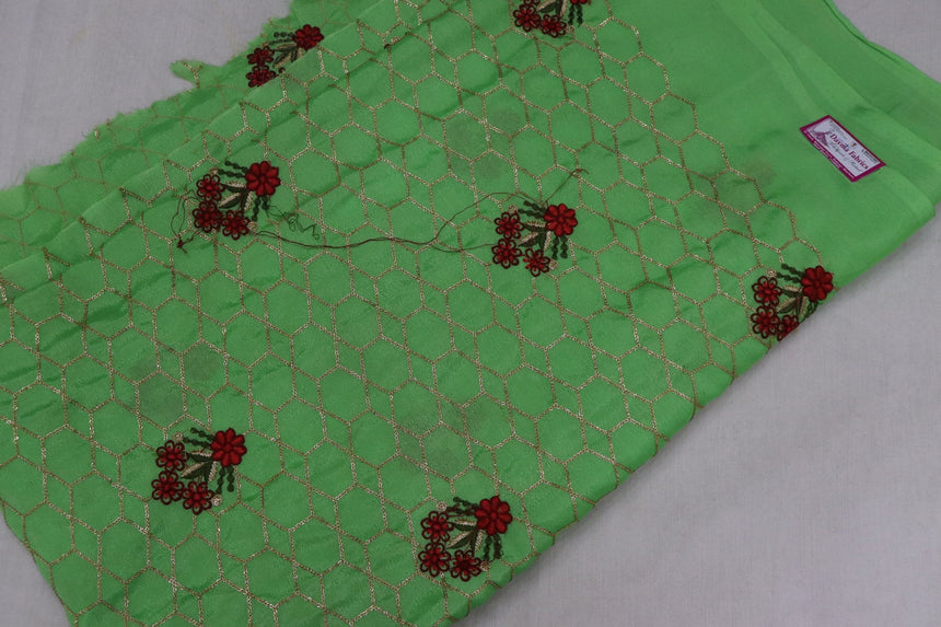 Embroidered Chinon Fabric (1.30 Meter Cut Piece)