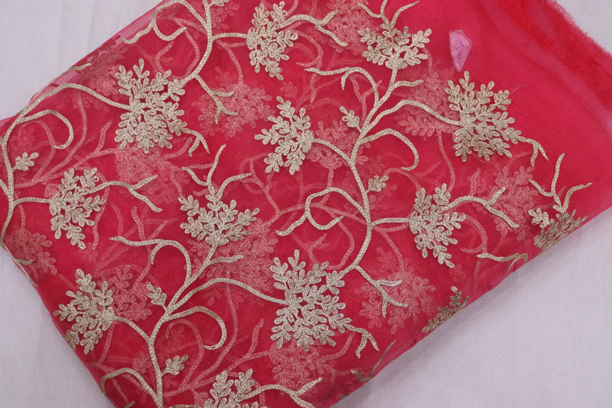 Embroidered Tissue & Organza Fabric