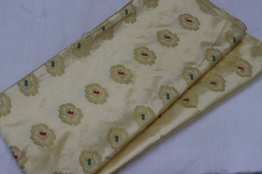 Designer Self Brocade Fabric