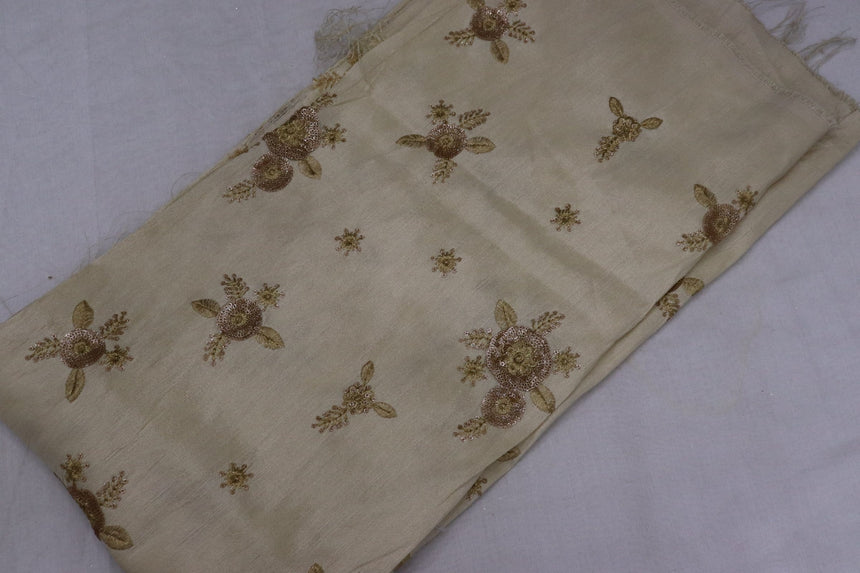 Embroidered Silk Fabric (1.20 Meter Cut Piece)