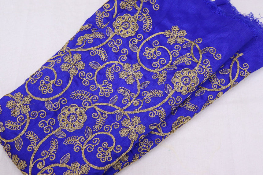 Embroidered Silk Fabric (1.80 Meter Cut Piece)