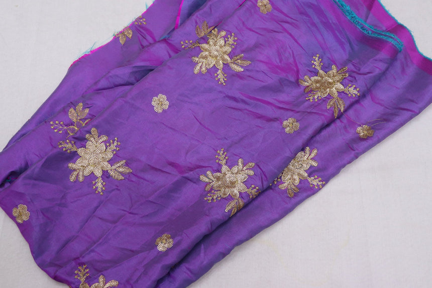 Embroidered Silk Fabric (1 Meter Cut Piece)
