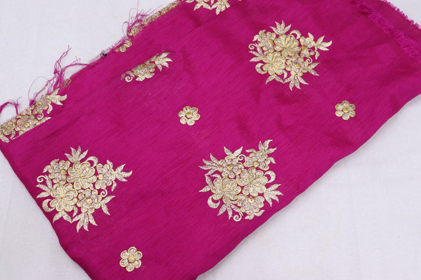 Embroidered Silk Fabric (1.30 Meter Cut Piece)