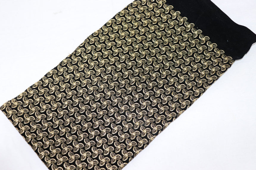 Embroidered Velvet Fabric (0.50 Meter Cut Piece)