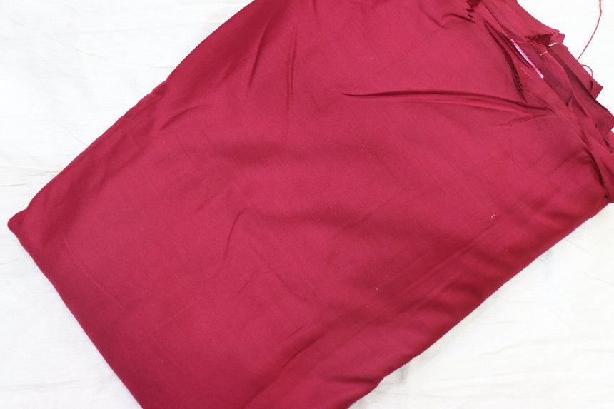Plain Rayon Maroon colour fabric