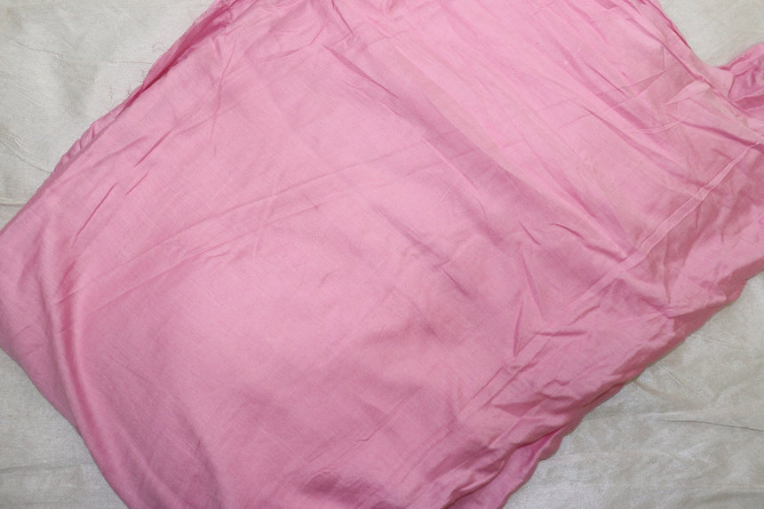 Plain Rayon Baby pink colour fabric