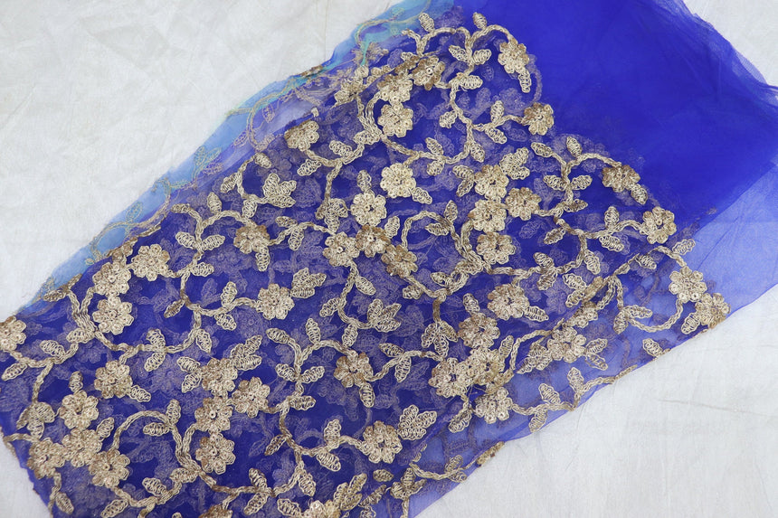 Embroidered Net Cut Piece 0.95 Meter