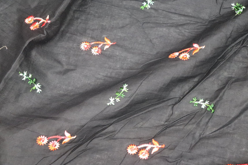 Embroidery On Cotton Cambric Fabric