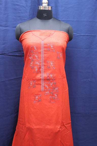 Jam Cotton Suit With Nazneen Dupatta