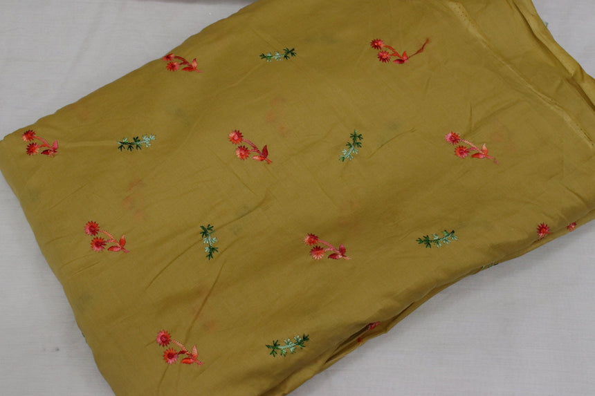 Embroidered Cotton Cambric In SALE