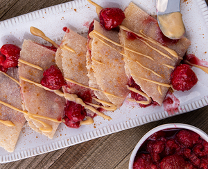 raspberry peanut butter dessert tortillas
