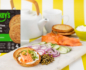 lox and english muffin platter