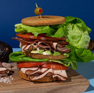 keto & paleo stacked turkey sandwich