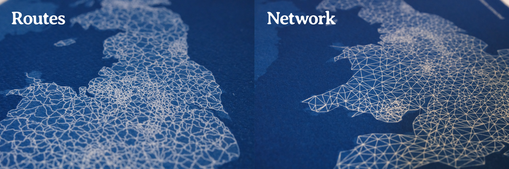 Routes and Network artwork