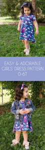 Adorable Girls Dress Pattern with Mommy and Me Pattern