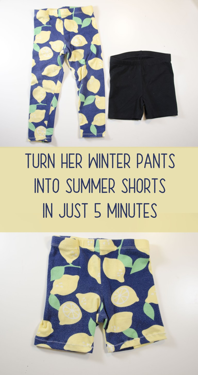 Turn Her Winter Pants into Summer Shorts in 5 Minutes