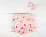 Pink Campers Baby Toddler Bloomers or Skirts