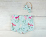 Minty Mermaids Baby Toddler Bloomers or Skirts