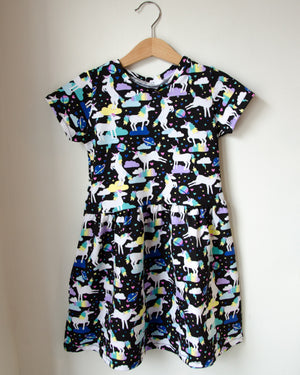 Space Unicorn Twirl Dress Baby Toddler