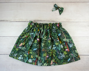 Jungle Baby Toddler Bloomers or Skirt Outfit