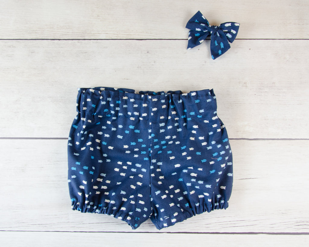 Ocean Fish Baby Toddler Bloomers or Skirts