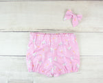 Pink Space Unicorns Baby Toddler Bloomers or Skirts