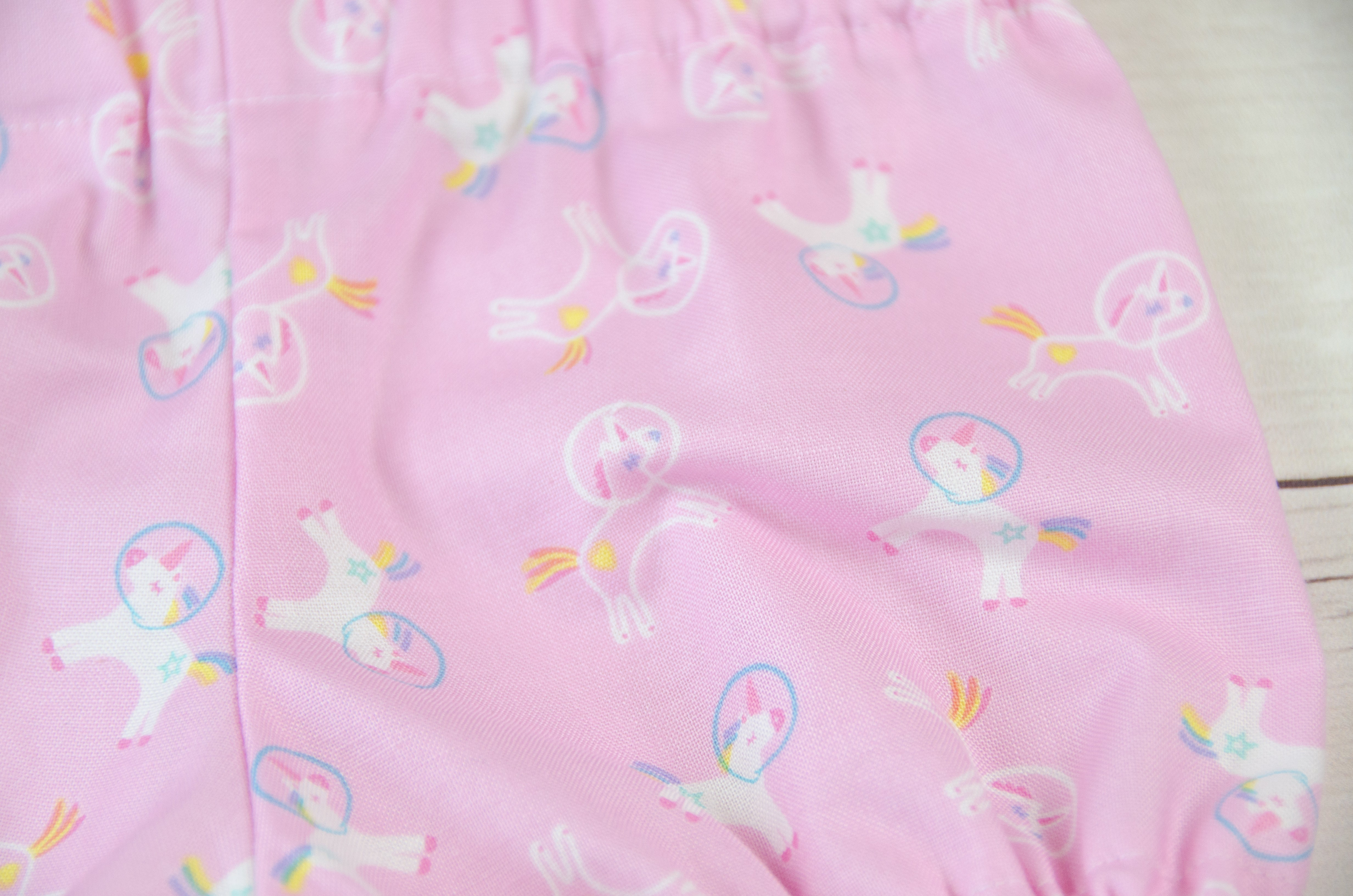 Pink Space Unicorns Baby Toddler Bloomers, Skirts or Pants