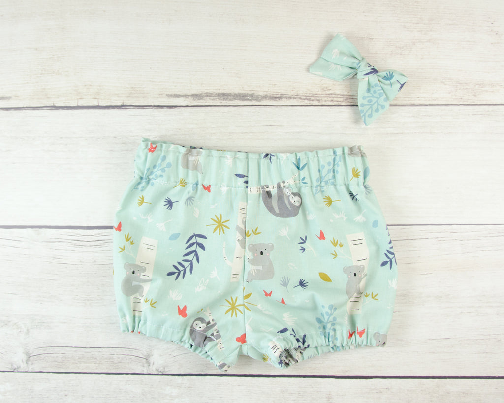 Sloths and Koalas Baby Toddler Bloomers, Skirt or Pants