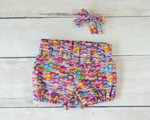 Colorful Rainbow Worth the Wait Baby Toddler Bloomers or Skirt Outfit