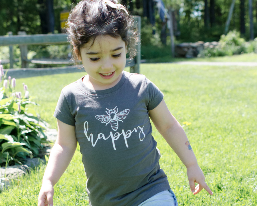 Bee Happy Fitted Toddler T-Shirt
